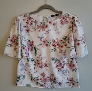 Small Light Floral Blouse Shirt